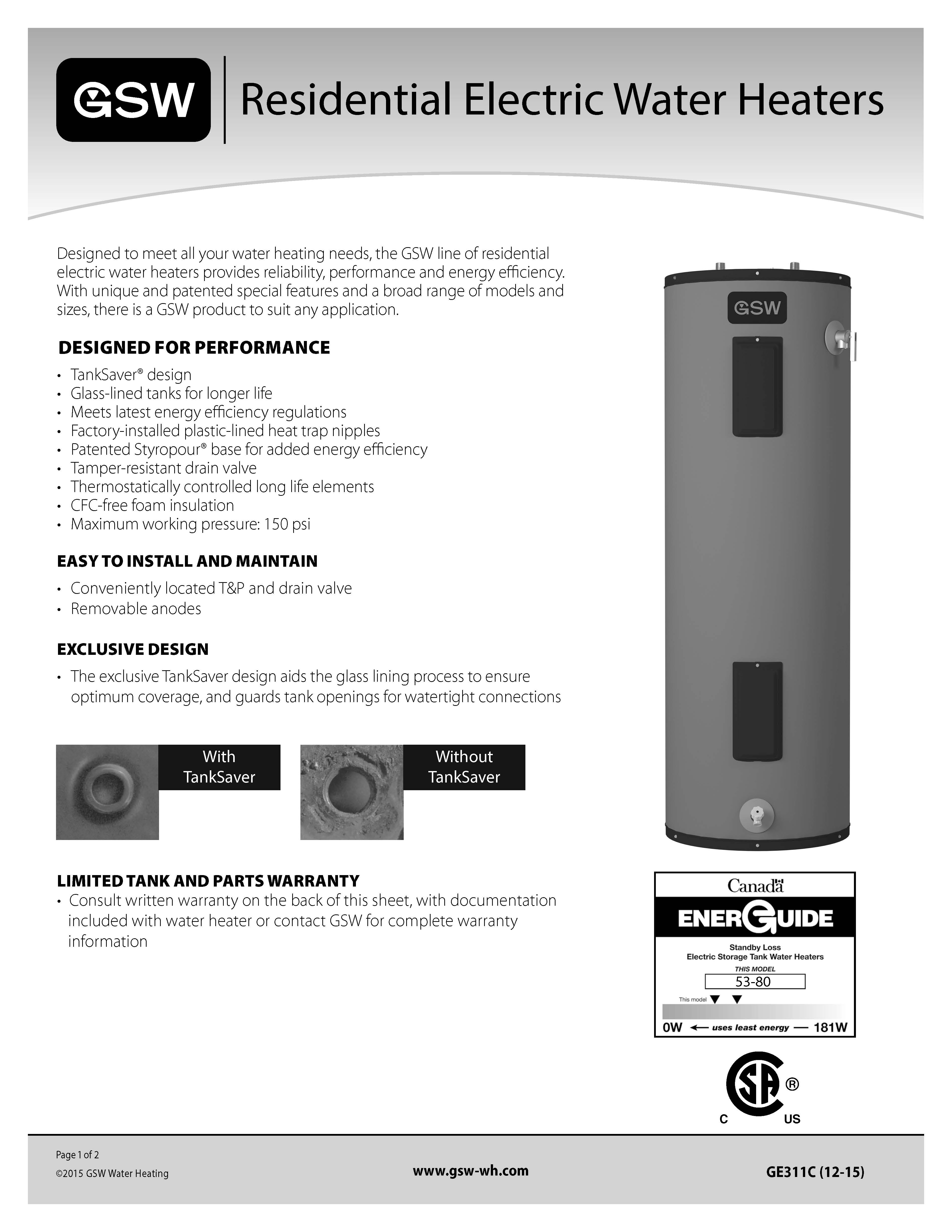 Gsw Residential Electric Heaters Post Views 231